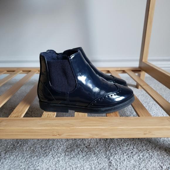 ZARA Navy Boots